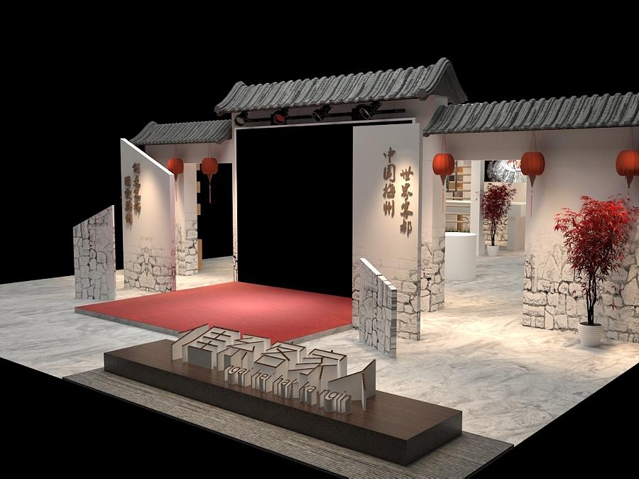 茶博会展览设计|展示设计 |空间|青石腐竹 - 原创设计图片