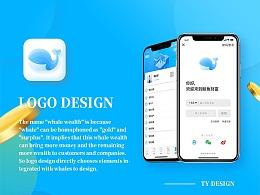 金融品牌LOGO设计~鲸鱼财富(附动效)