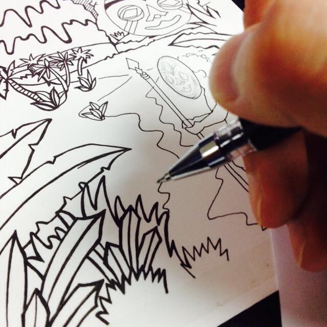 【豆腐先生】疯狂原始人 手绘彩铅插画