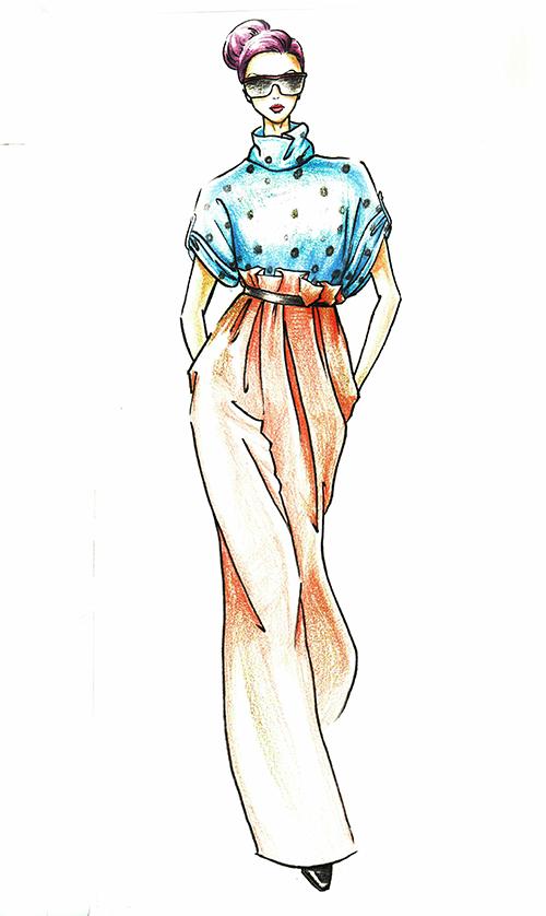 服装效果图设计,手绘稿|休闲/流行服饰|服装|shuangs