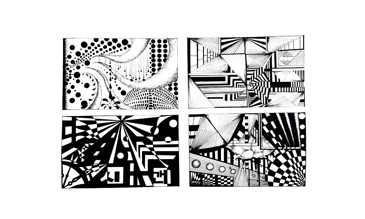点线面色彩构成作业_点线面的构成设计图片_点线面的构成设计图片分享