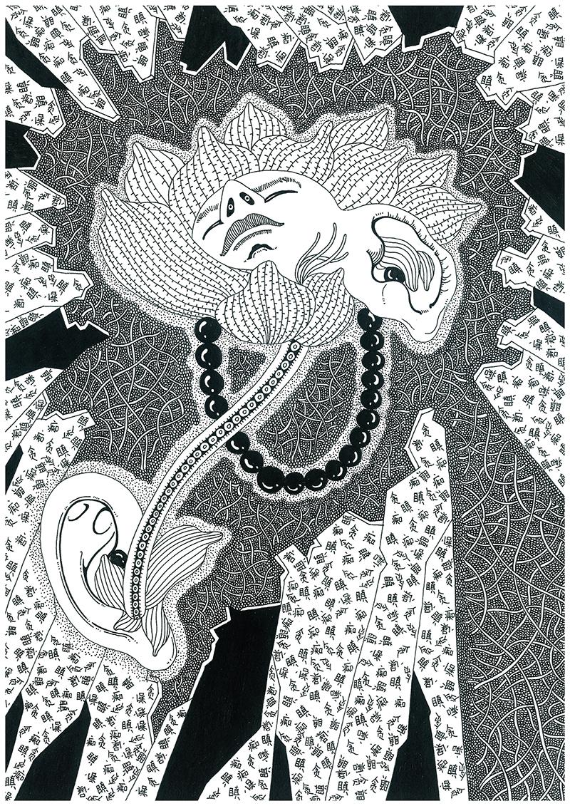 车世钦黑白手绘稿合集第二季|商业插画|插画|极限疯子