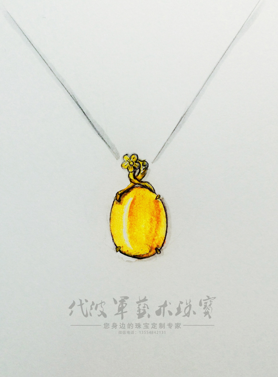查看《代波军艺术珠宝定制-----蜜蜡就像黄昏的后花园》原图,原图尺寸:900x1217