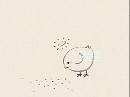 《小鸡啄(吃)米图》