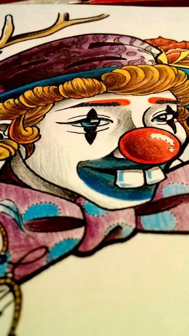 纹身手稿——小丑