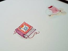 手绘水彩两个简单的小道具(附视频)