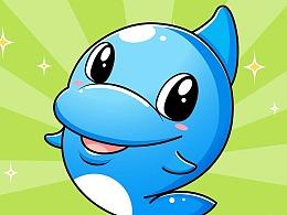 智慧家海豚吉祥物设计表情包制作卡通ip吉祥物形象设计