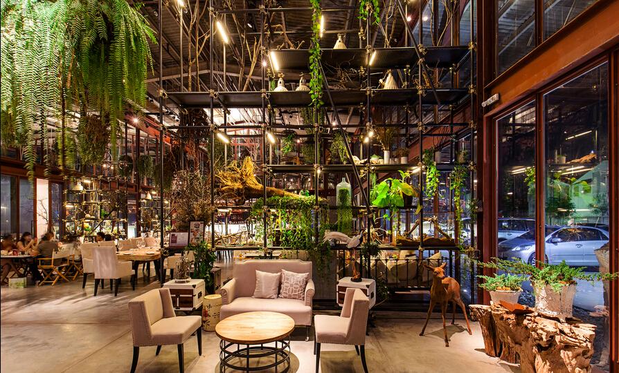 杭州餐厅医院装修设计植物园主题餐厅装修设计室内设计主题图片
