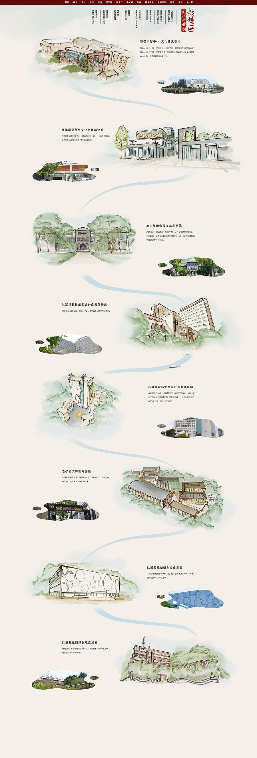 鼓楼文化产业园手绘地图 商业插画 插画 水树悠哉