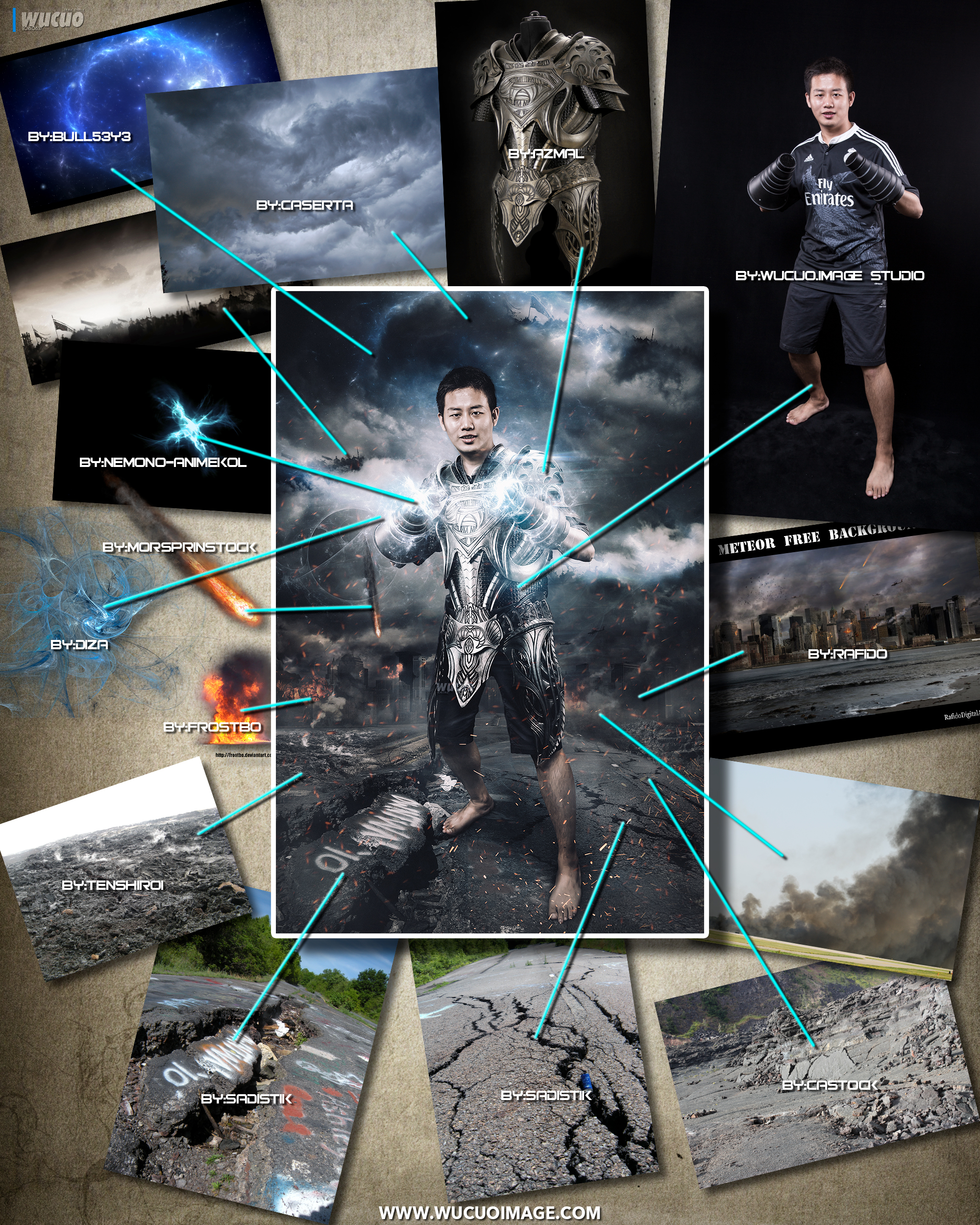 [照片合成] 创意合成海报- 战·时空图片