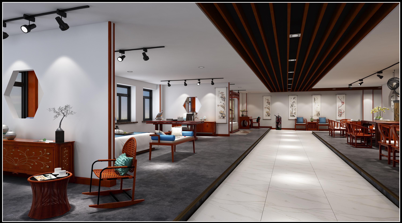 苏州红木家具展厅一,二,三层效果图表现|空间|室内设计|wtz123562图片