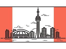 Illustrator中创建多伦多天际线插图