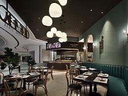 """西餐厅设计""""原石牛扒"""""""