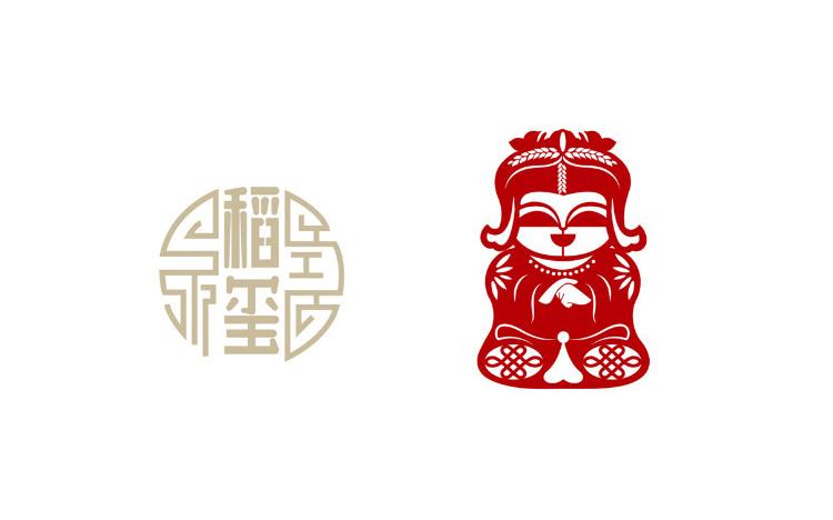 【鱼子阳】大米标志设计方案图片