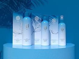 本草堂-补水系列化妆品包装设计
