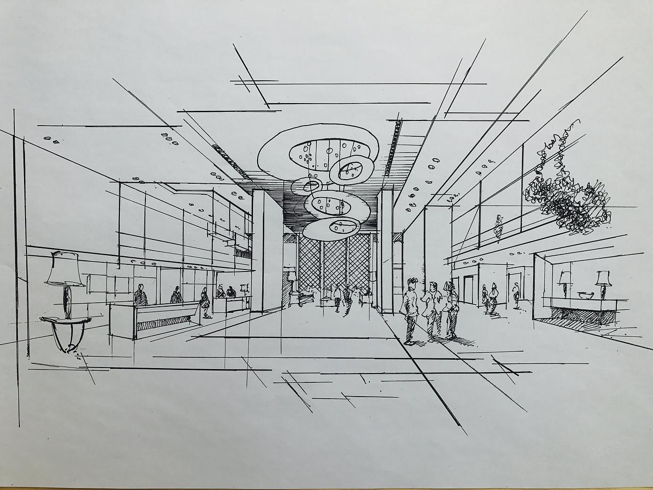 室内设计手绘线稿