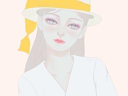 戴帽子的女生