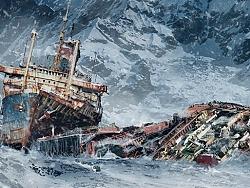 Frozen ship...