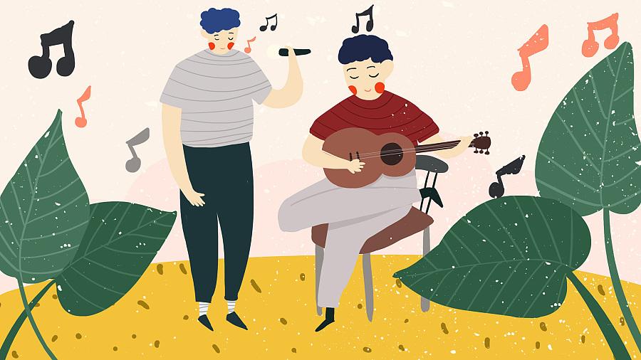 音乐会系列手绘插画
