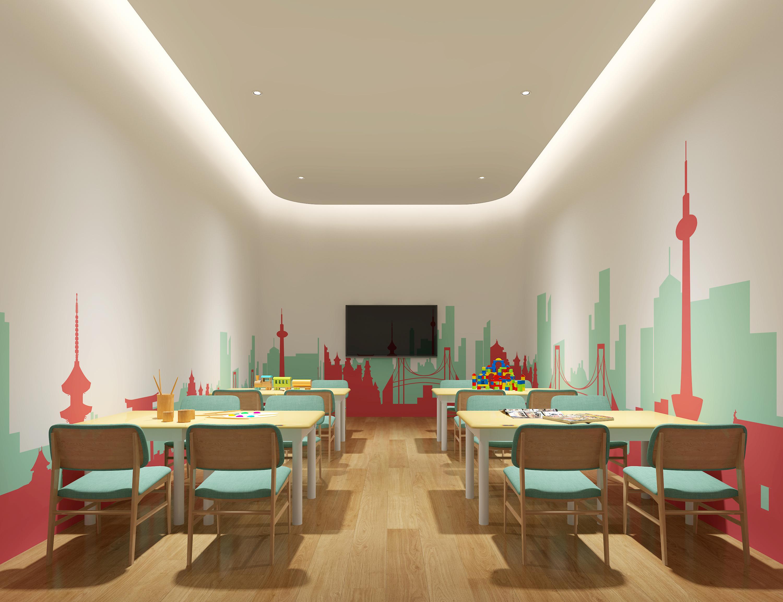 幼儿园贴吧_室内空间设计封面设计素材教室图片
