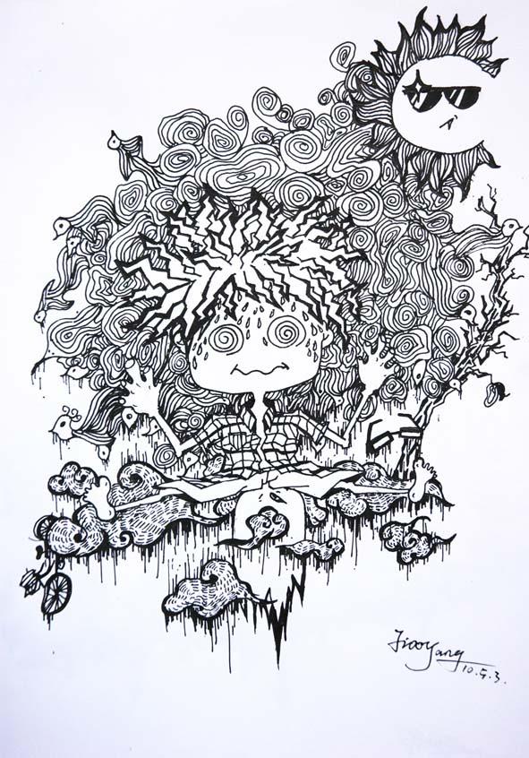原创作品:手绘线稿
