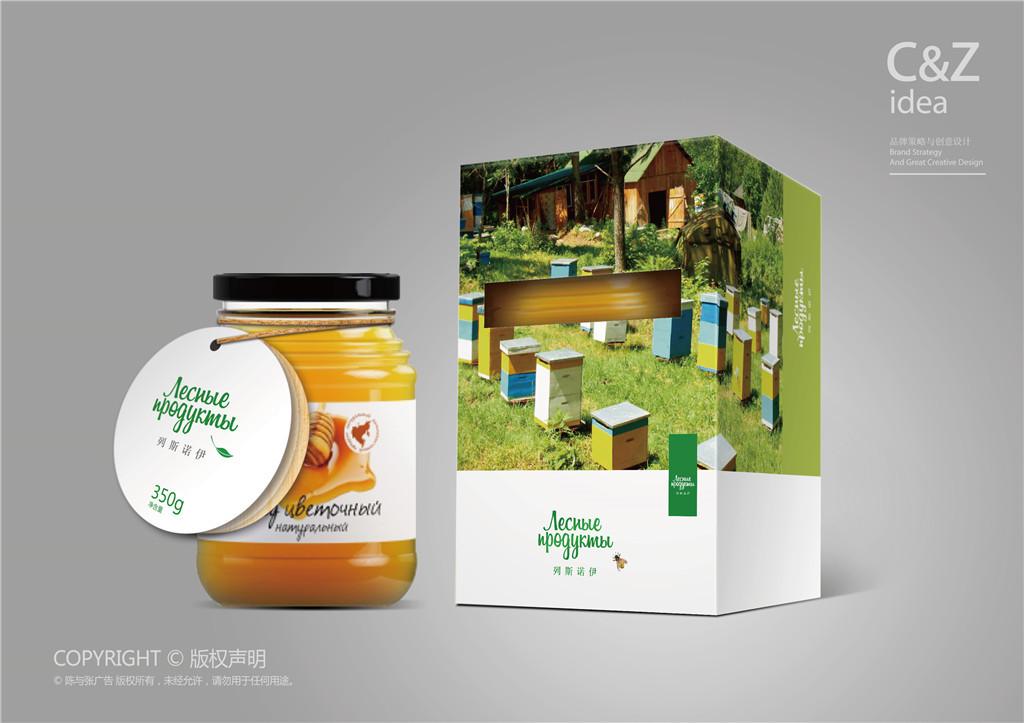 网上蜂蜜广告方案_俄罗斯进口蜂蜜品牌包装设计 平面 包装 陈与张广告公司4 - 原创 ...