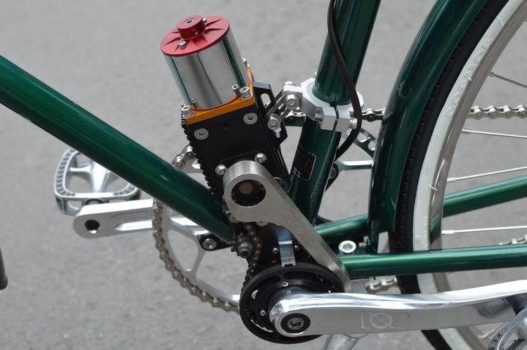 超轻中轴电机助力电动自行车
