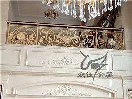 私人定制铝艺雕花护栏 五谷丰登镀金铝板雕花护栏款式