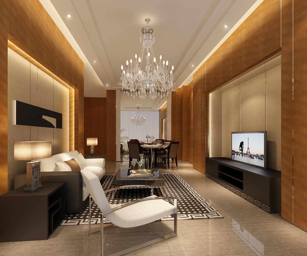 龙禧中心酒店式公寓室内空间设计-成都公寓式酒店装修