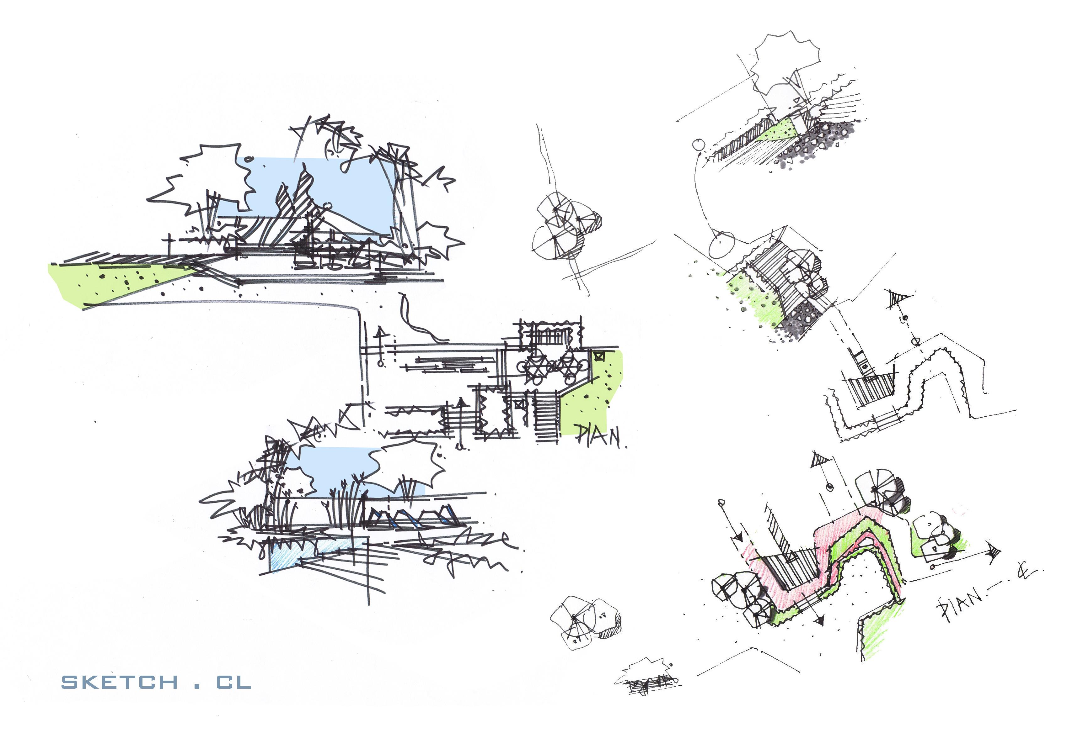 景观草图|空间|景观设计|磊子1220 - 原创作品 - 站酷图片