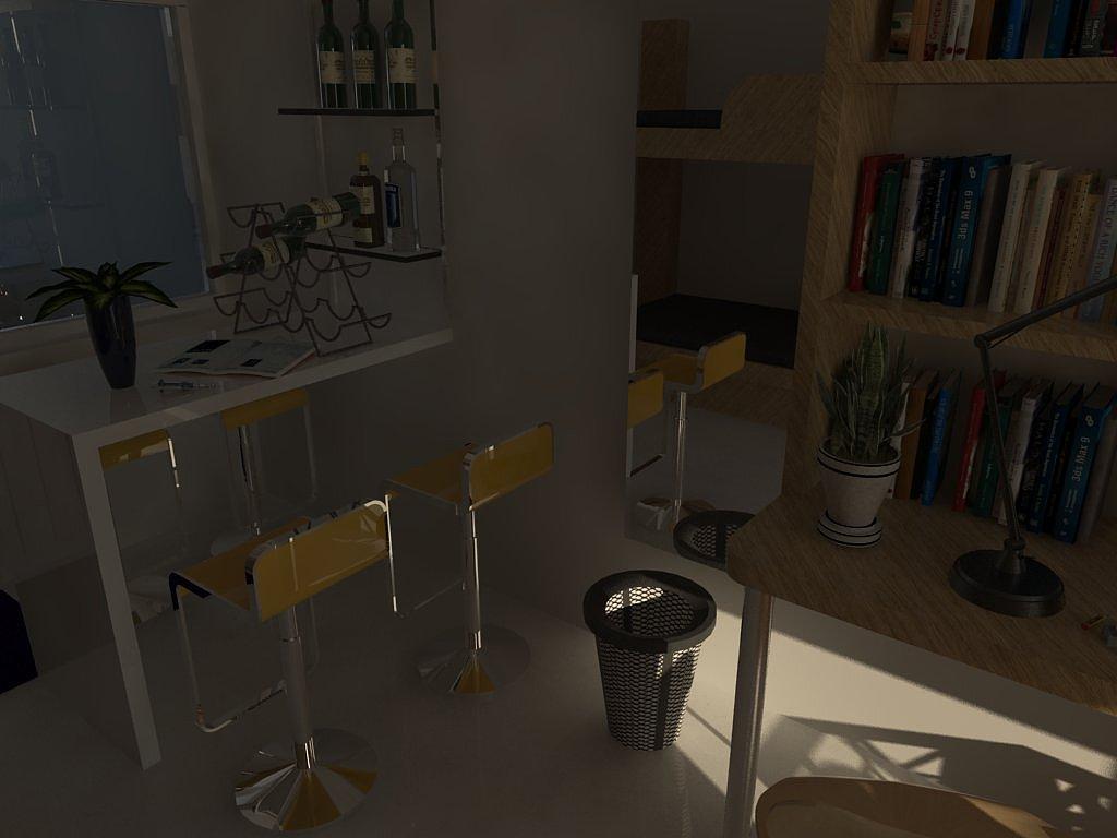 经济简约的大学寝室设计图片
