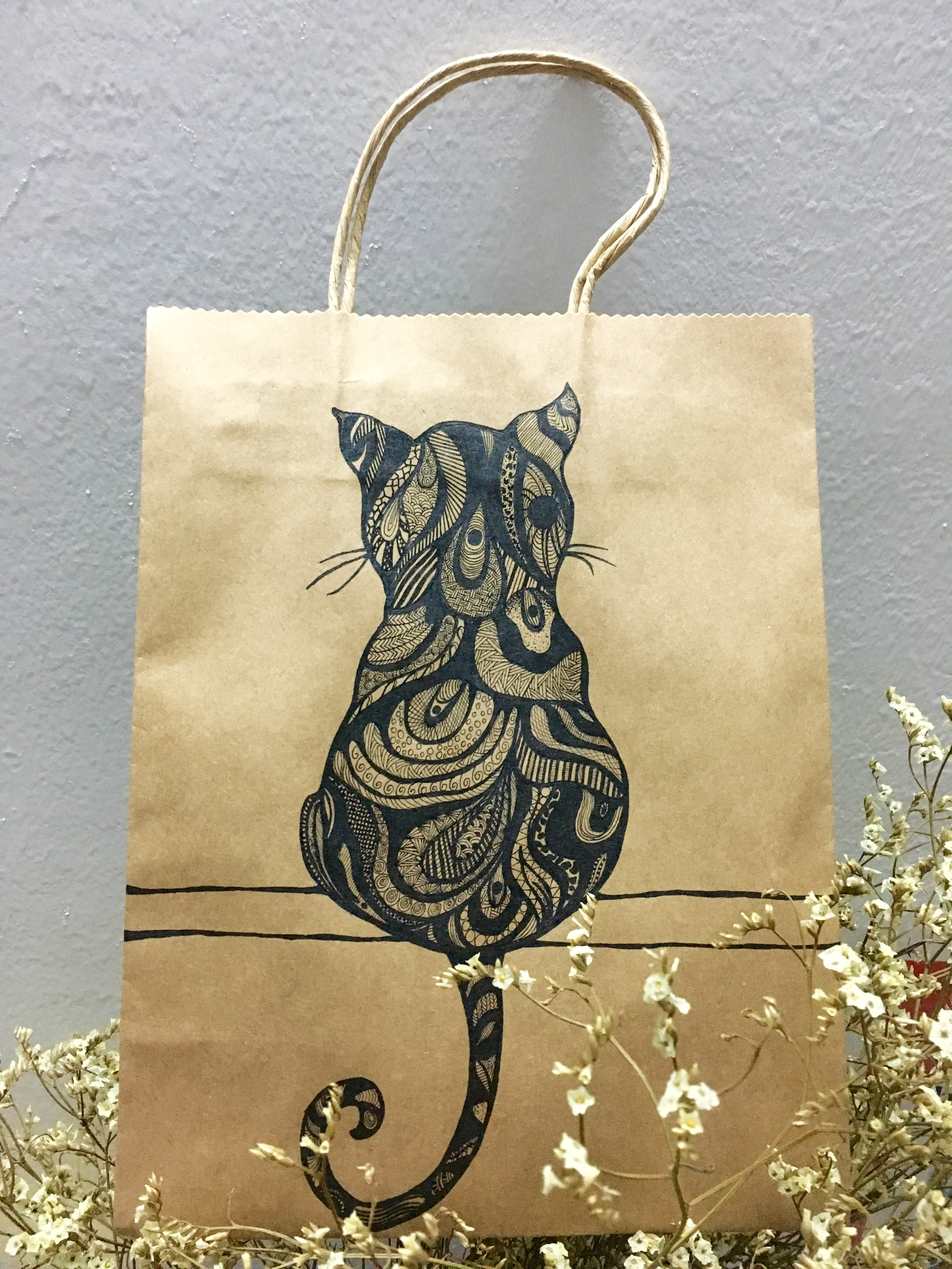 手绘插画手提袋