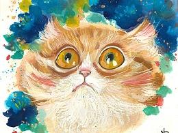 一组水墨猫咪~希望大家喜欢