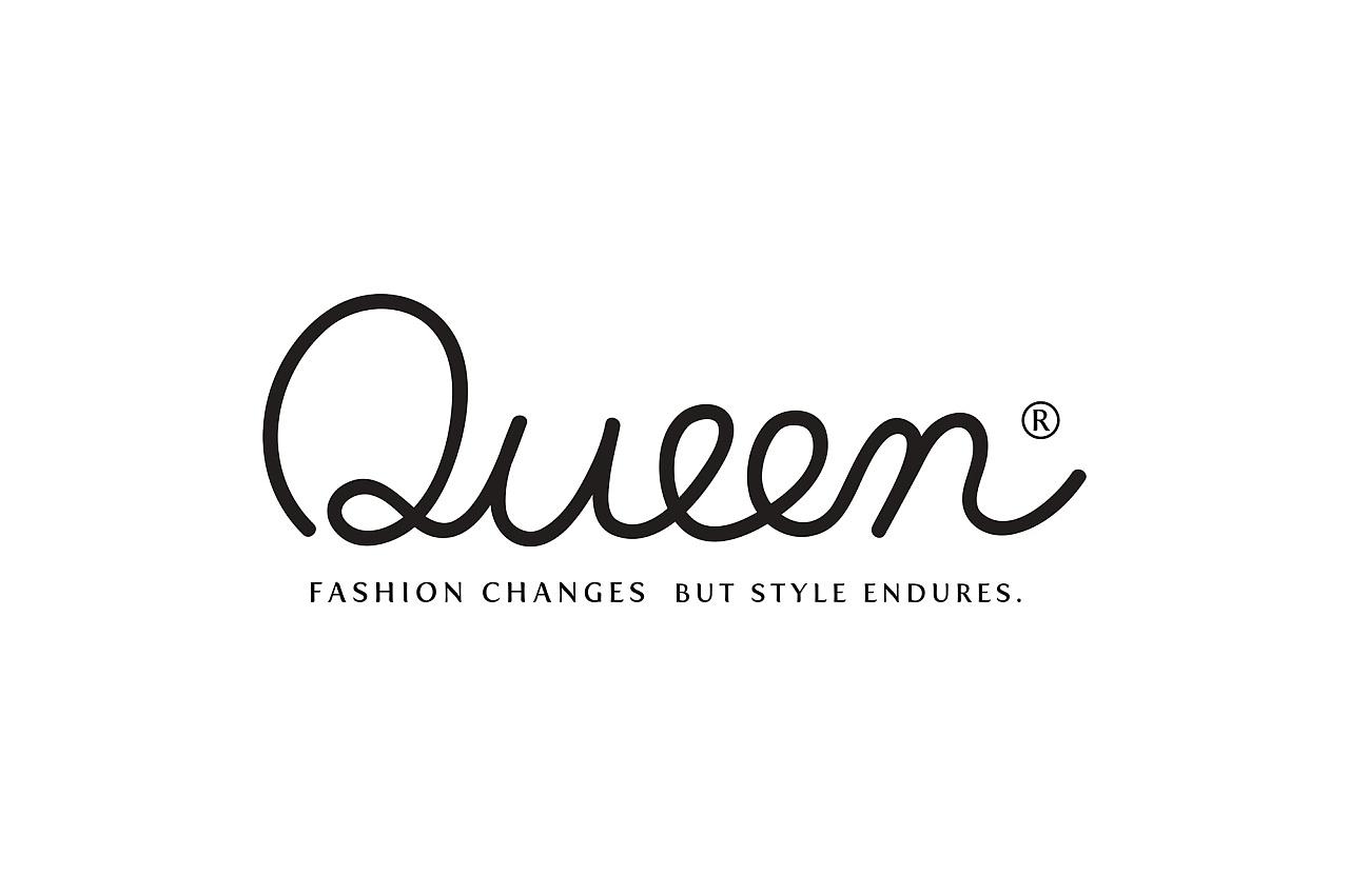Queen logo design 女王服装品牌形象标志设计