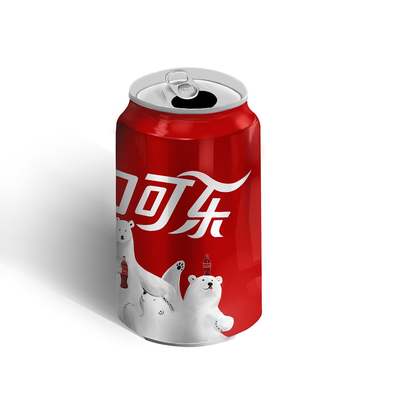 可乐罐手绘临摹