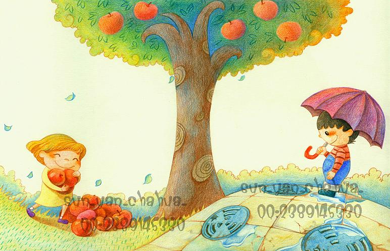 末末的彩铅世界—彩铅手绘杂志配图|插画|儿童插画|末