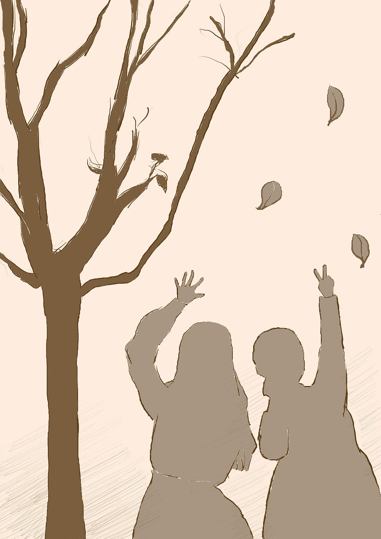 十一与影子手绘小谈,于是小学下了自拍,相见了起来好友新都桂湖v影子图片