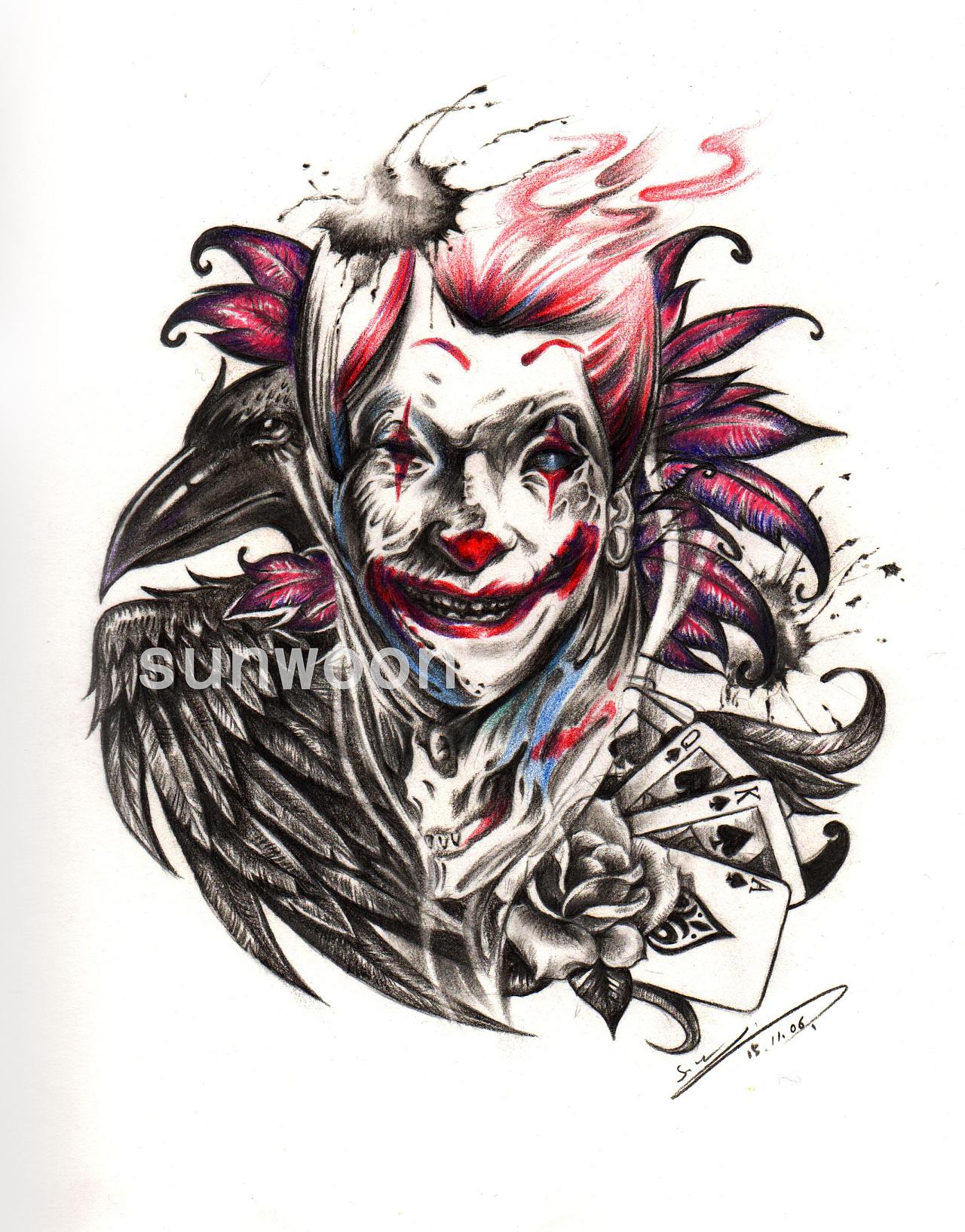 小丑手绘稿