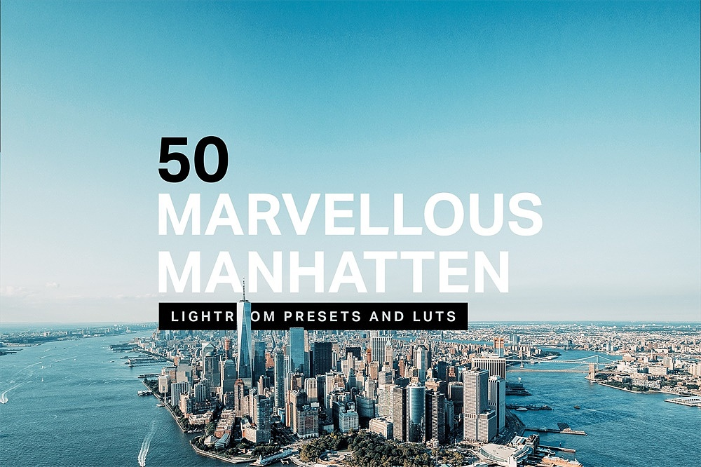【P186】曼哈顿城市旅拍LR预设+LUT预设 sparklestock 50 Marvelous Manhattan Lightroom Presets and LUTs