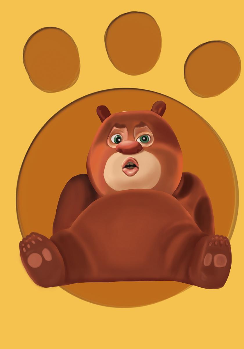 练手作品 熊大图片