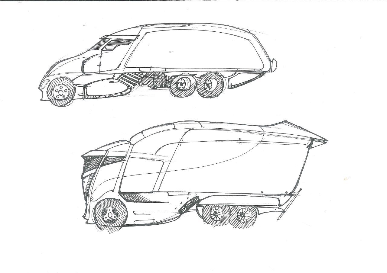 工业设计手绘汽车系列