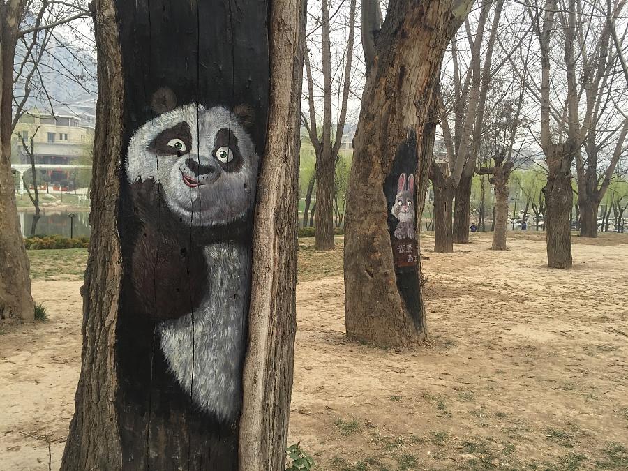 树洞画4-功夫熊猫阿宝