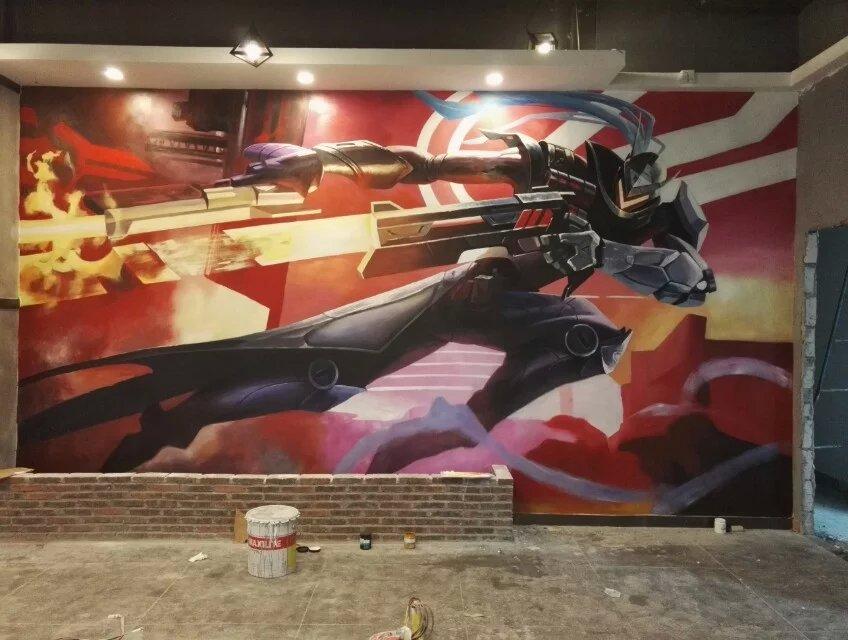 英雄联盟皮肤墙体彩绘|墙绘/立体画|其他|黎哥