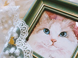 水彩布偶猫上色过程