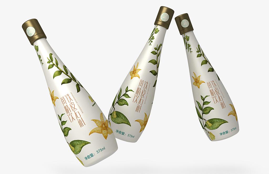 铁皮石斛酵素包装设计,铁皮石斛饮料包装设计,品牌包装