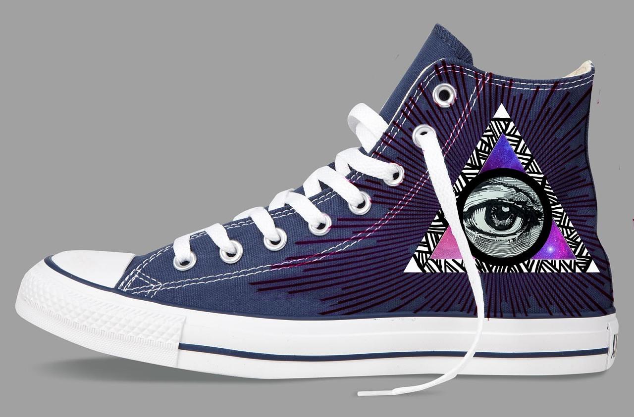 手绘匡威鞋设计——眼眸