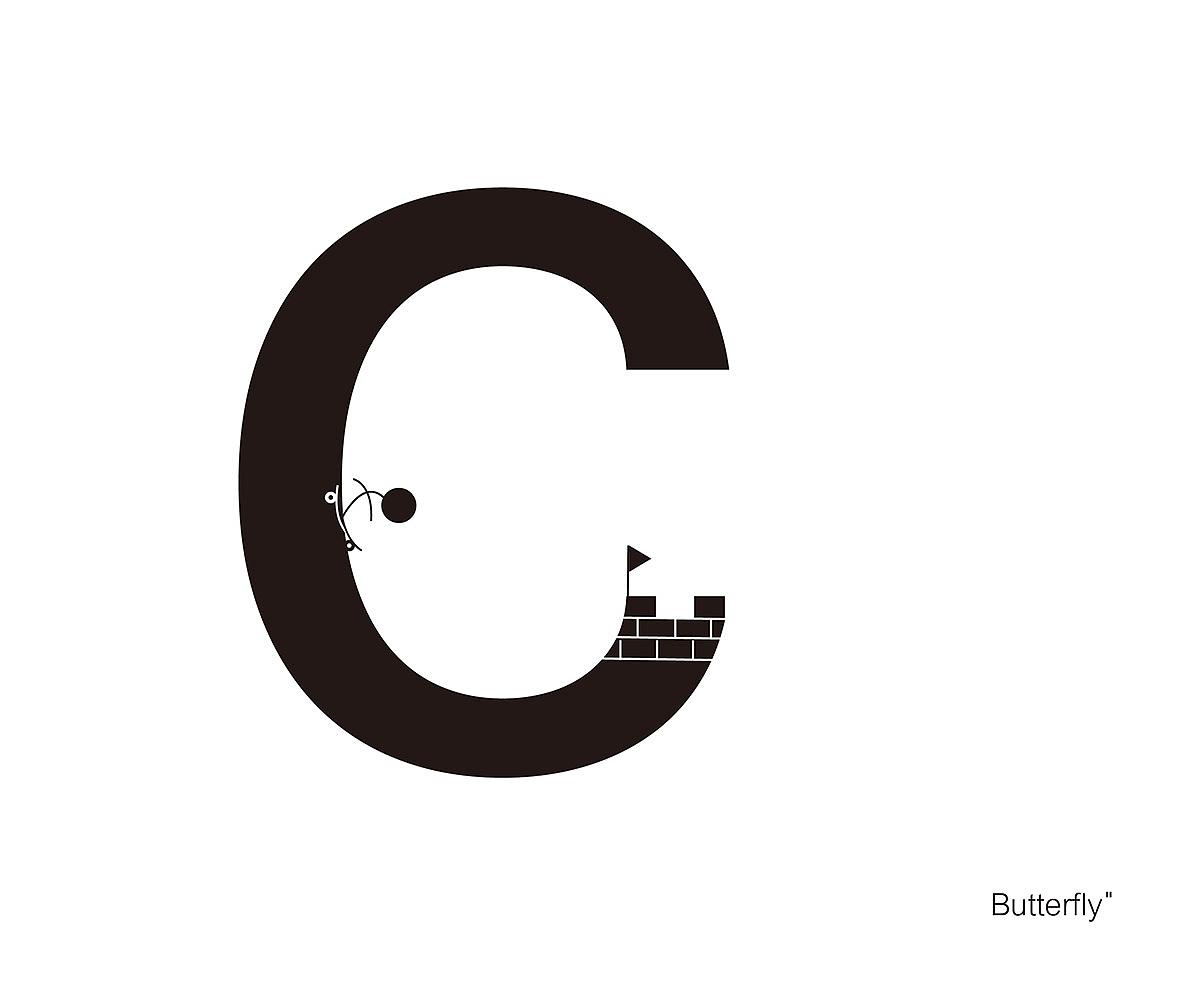 创意英文字体设计a-h