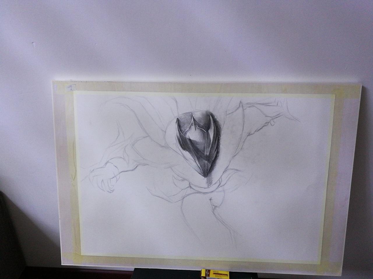 临摹手绘英雄联盟腥红之月泰隆
