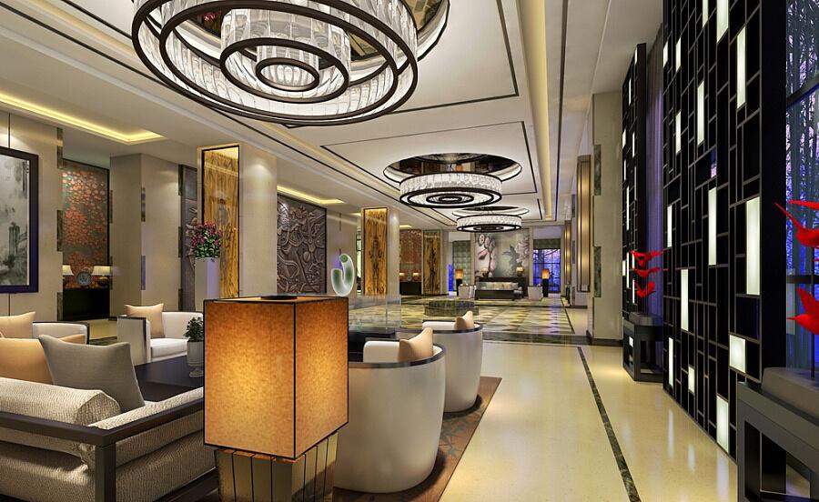 《奥蓝大酒店装修设计》--莆田连云港酒店专业江苏三层楼装修设计图片