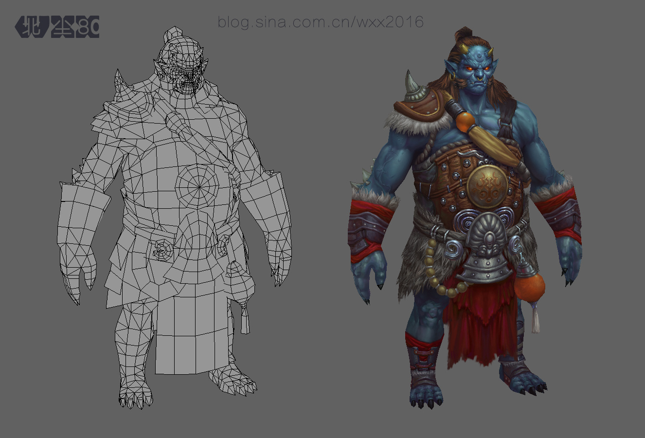 3d游戏模型-怪兽